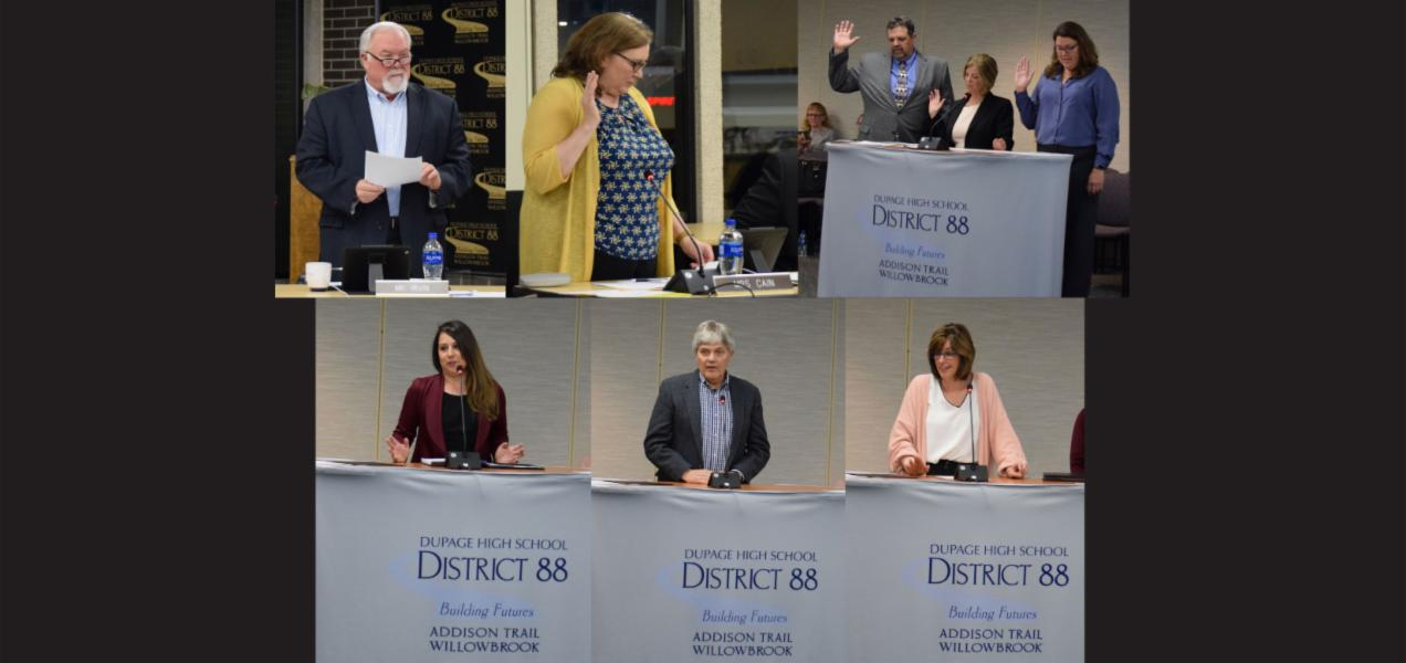 District 88 installs new Board of Education members, thanks outgoing Board members for years of service